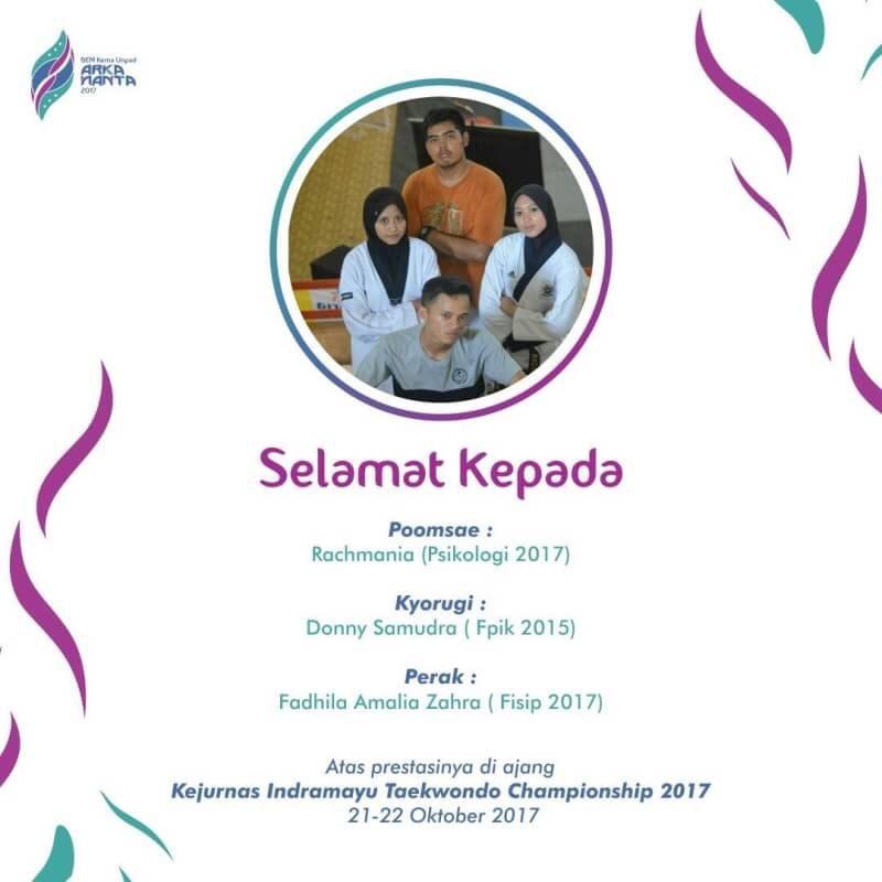 Mahasiswa Unpad Raih Kejurnas Indramayu Taekwondo Championship 2017