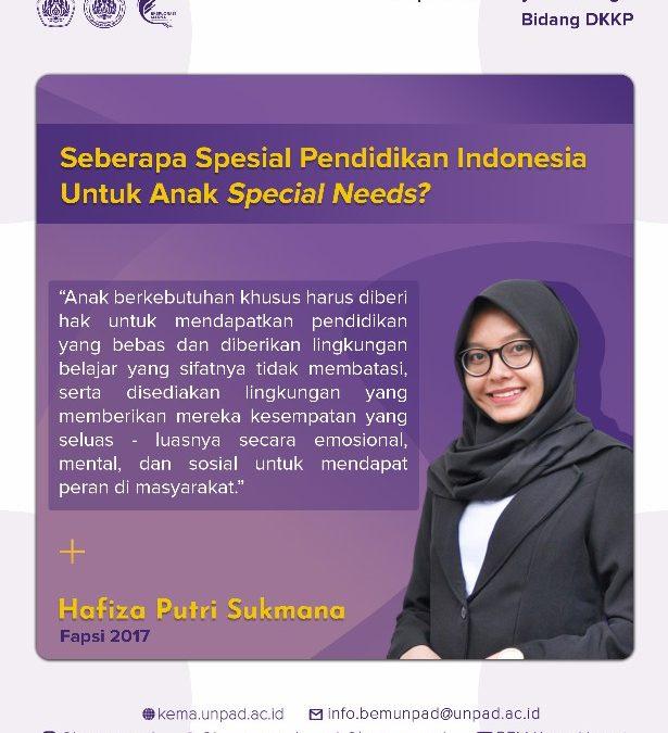 Seberapa Spesial Pendidikan Indonesia Untuk Anak Special Needs?